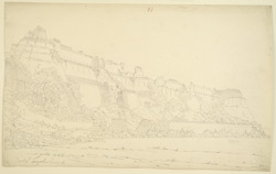 Ruins of the Fort, Tughlakabad [Tughluqabad] (Punjab). July 1813. Signed 'J.S.'